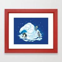 Penguin Jerks Framed Art Print