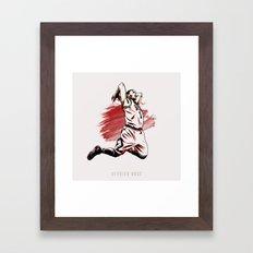 Derrick Rose Framed Art Print