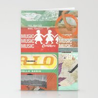 Music, Music, Music Stationery Cards