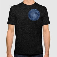 Dark Side of the Moon - Painting Mens Fitted Tee Tri-Black SMALL