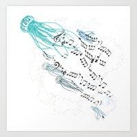 Underwater Song Art Print