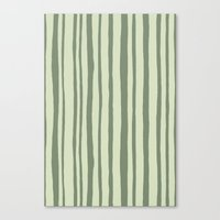 Into the Woods green Stripes Canvas Print