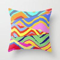Striped Chevrons Throw Pillow
