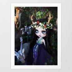 ISOBEL FAWN (Ooak BLYTHE Doll) Art Print