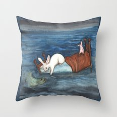 Bed as a Boat Throw Pillow