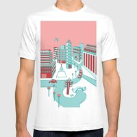 Winter City Mens Fitted Tee White SMALL