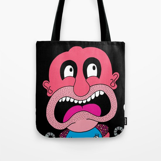 Red Face Weirdo Tote Bag
