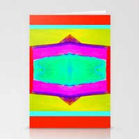 Marina III - Abstract Painting Stationery Cards