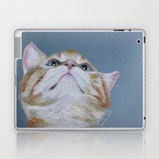 Juno. The Bird Catcher. Pastel Kitten Laptop & iPad Skin