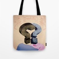 french kiss. question series Tote Bag