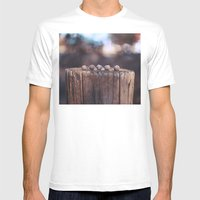 5 Acorns Mens Fitted Tee White SMALL