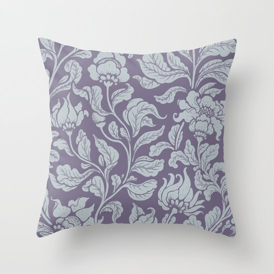 neo ethnic lavender Throw Pillow