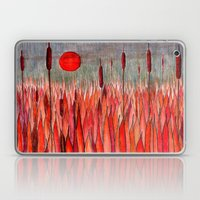 Sunset Over The Cattail … Laptop & iPad Skin