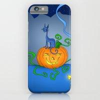 Halloween - Cat On Pumpkin iPhone 6 Slim Case