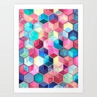 Topaz & Ruby Crystal Hon… Art Print