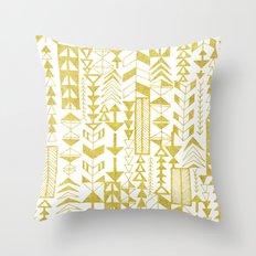 Golden Doodle arrows Throw Pillow