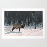 The Elk Art Print