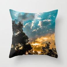The glow Throw Pillow