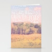 Love Dies  Stationery Cards