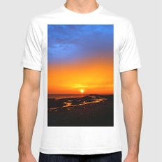 Sunrise on the Beach Mens Fitted Tee SMALL White