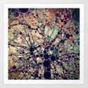 Colorful tree loves you and me. Art Print