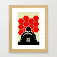 Gendo Ikari from Evangelion. Super Dad. Framed Art Print