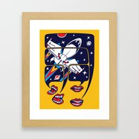 Let's Talk About Spacesh… Framed Art Print