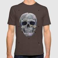 Skull Mens Fitted Tee Brown SMALL