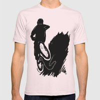 Rock Your Mountains Mens Fitted Tee Light Pink SMALL