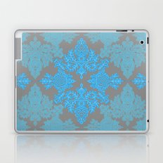 Turquoise Tangle - sky blue, aqua & grey pattern Laptop & iPad Skin