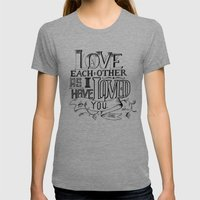 Love Letters Womens Fitted Tee Tri-Grey SMALL