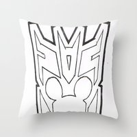 Mickbot Throw Pillow