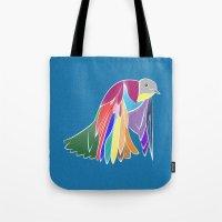 Bird - Blue Tote Bag