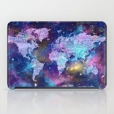 world map galaxy purple iPad Case