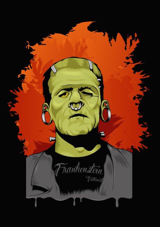 Frankenstein Tattoist Art Print