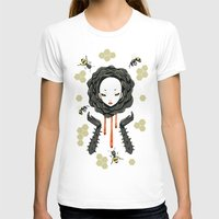 Honey Womens Fitted Tee White SMALL