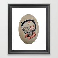 Boy Next Door - Silhouet… Framed Art Print