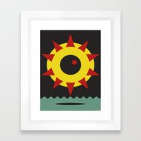 GIZA DEATH STAR Framed Art Print
