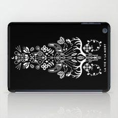 La Vie + La Mort: White Ink iPad Case