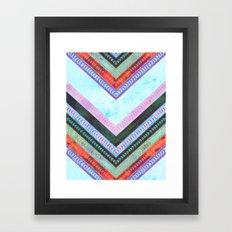 Adele Chevron {1B} Framed Art Print