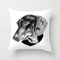oh my dog ! Throw Pillow