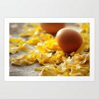 Fresh Italian Pasta With… Art Print