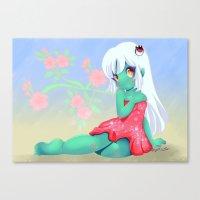 Asha Sakura Canvas Print