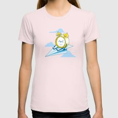 Times Flies (color option) Womens Fitted Tee Light Pink SMALL
