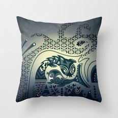 Midnight swirls Throw Pillow