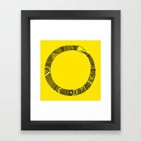 Snake sleeve Framed Art Print