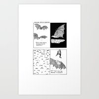 Bats In Your Hair Art Print
