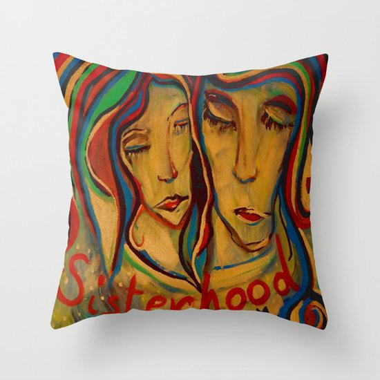 sisterhood Throw Pillow