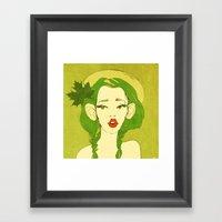 Selfie Girl_10 Framed Art Print
