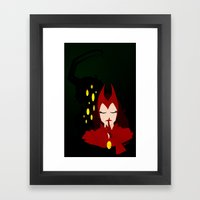 Mischief from Shadows (Lady Loki as Scarlet Witch) Framed Art Print